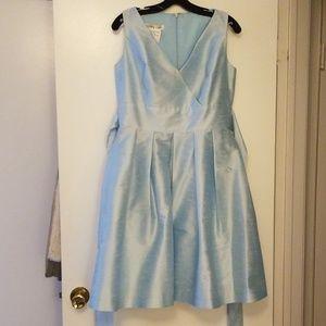 Alfred Sung Dress D666 Skylark blue size 14